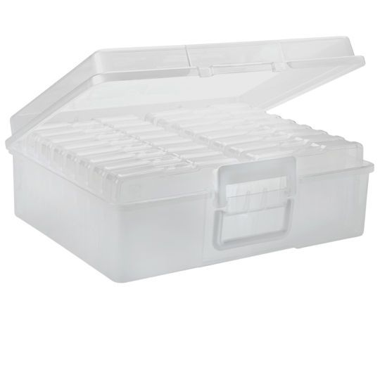 Great Ultimate Photo Storage Box With Handle   Holds 1,600 Photos, With 16 Mini  Cases Holding