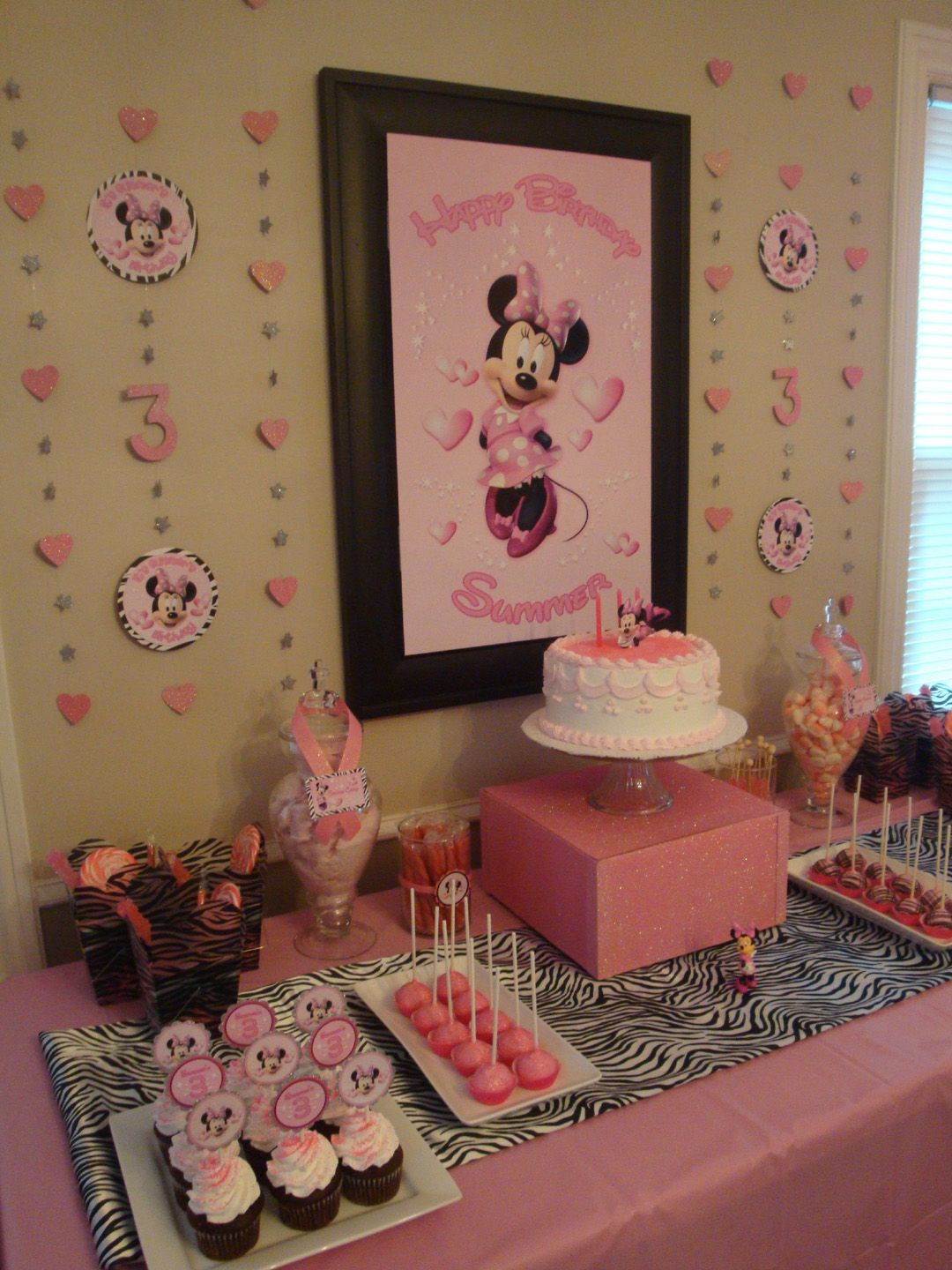 for my nieces birthday party! Minnie mouse party, Minnie