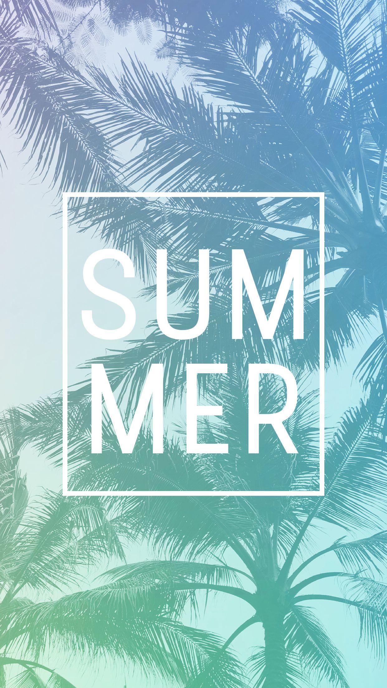 Neon palm trees summer phone wallpaper Lynn Meadows