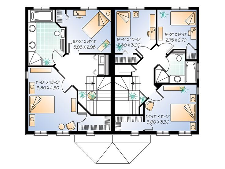 The Houseplan Shop House Plans Duplex House Plans House Plan Search