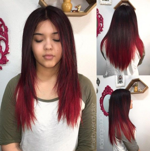 18 Striking Red Ombre Hair Ideas Popular Haircuts Red Ombre Hair Ombre Hair Long Hair Color