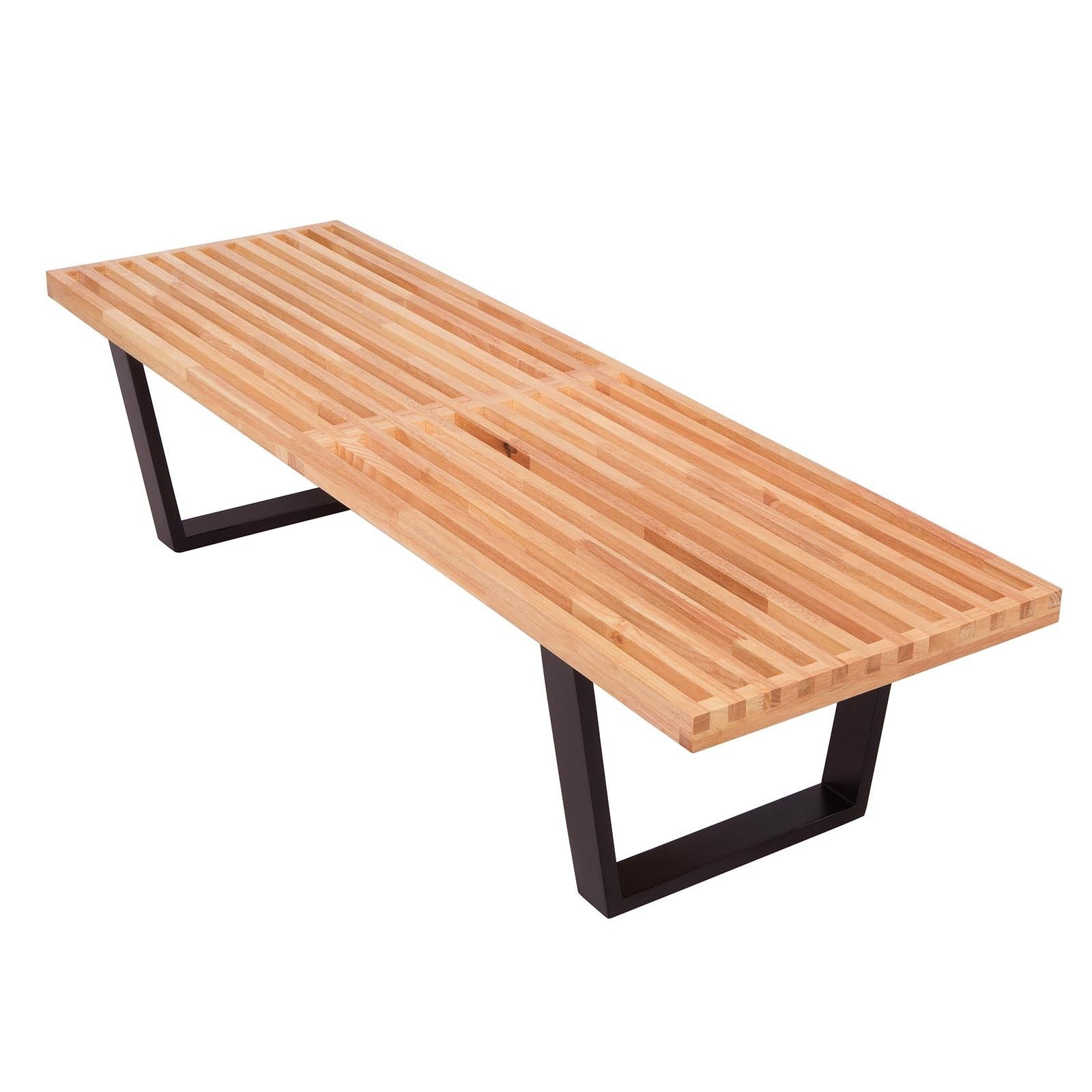 Leisuremod Inwood Natural Wood 5 Foot Bench Inwood Platform Natural