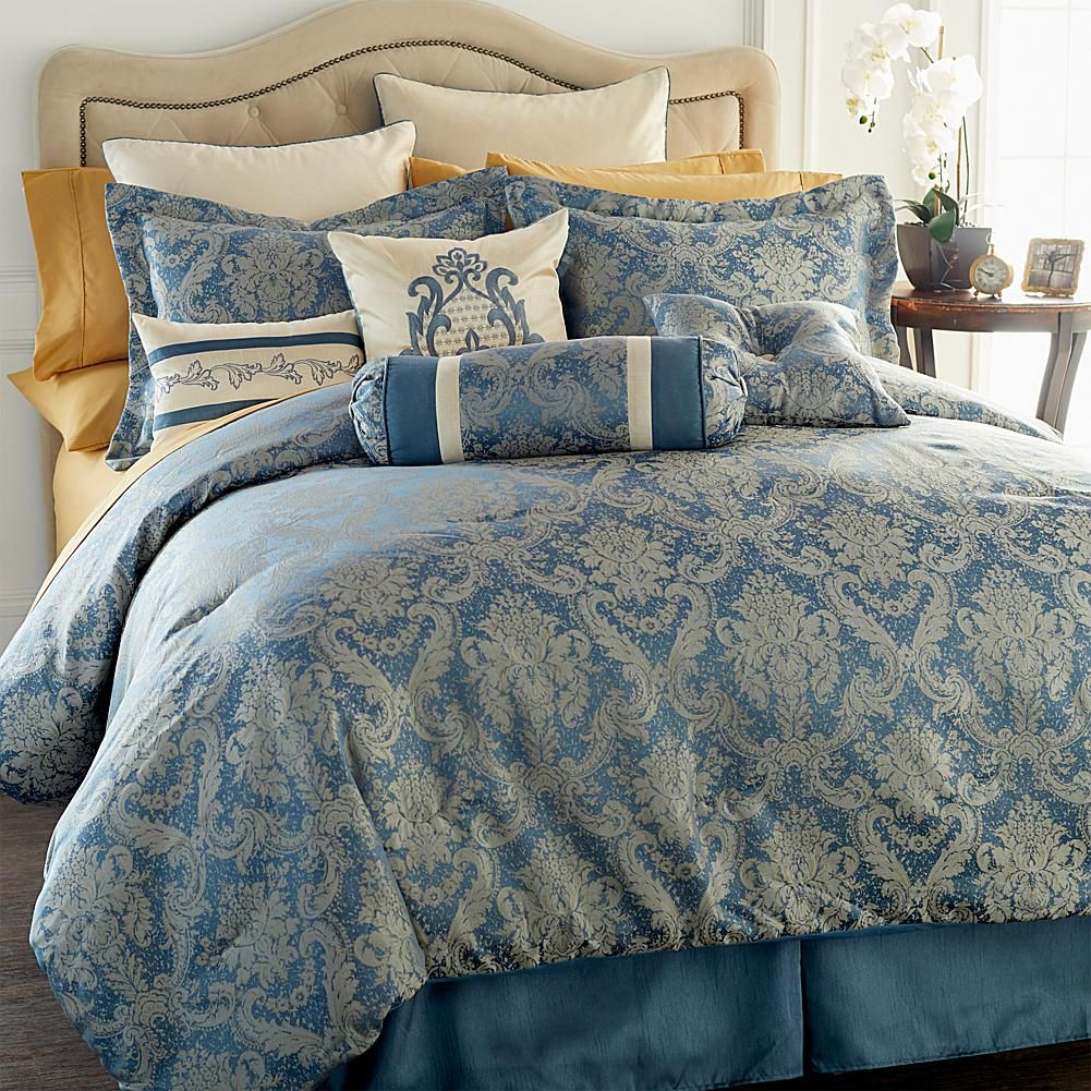 Highgate Manor Sienna 16 Piece Comforter Set Metallic Full Comforter Sets Blue Comforter Sets Comforters