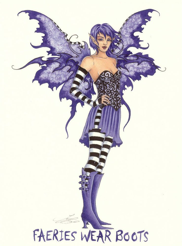 Amy Brown Fairy Print - Faeries Wear Boots