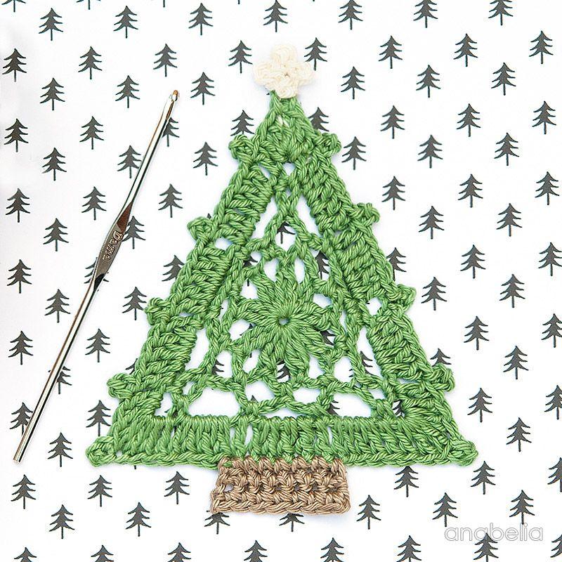 Crochet Christmas Tree free pattern, Anabelia Craft Design crochet