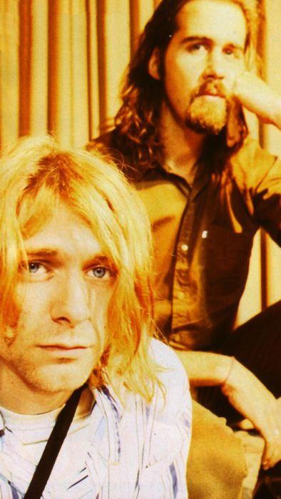Kurt Cobain and Krist Novoselic #Nirvana