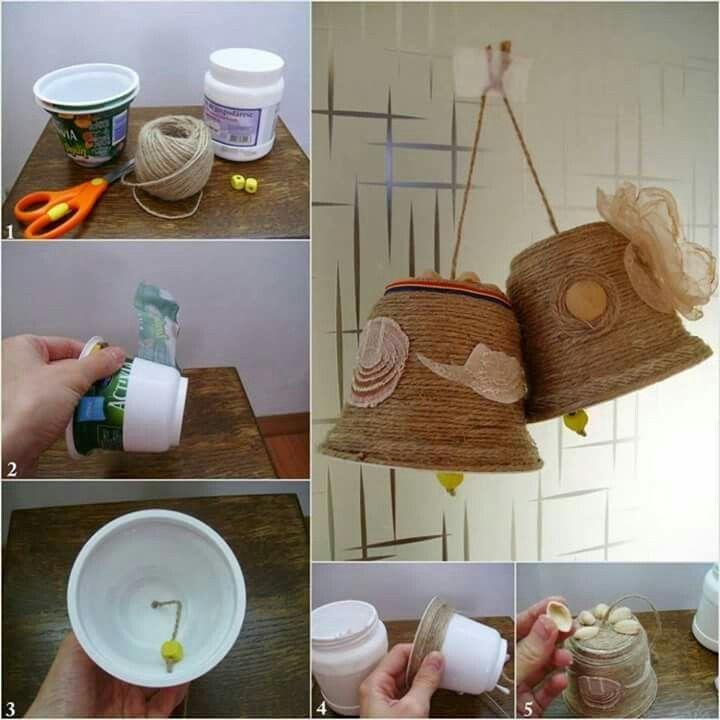 Campanas navide as con material reciclado manualidades for Materiales para manualidades navidenas