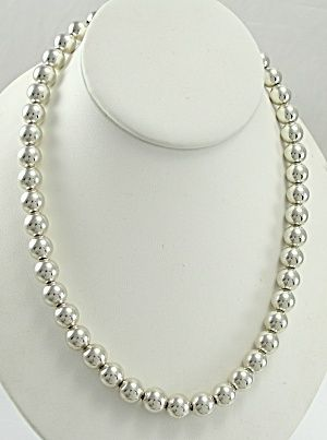 Authentic Tiffany Co Sterling Silver Bead Necklace Silver Bead Necklace Necklace Sterling Silver Bead