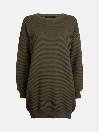 Miller sweater | 7171092 | Grön | BikBok | Sverige