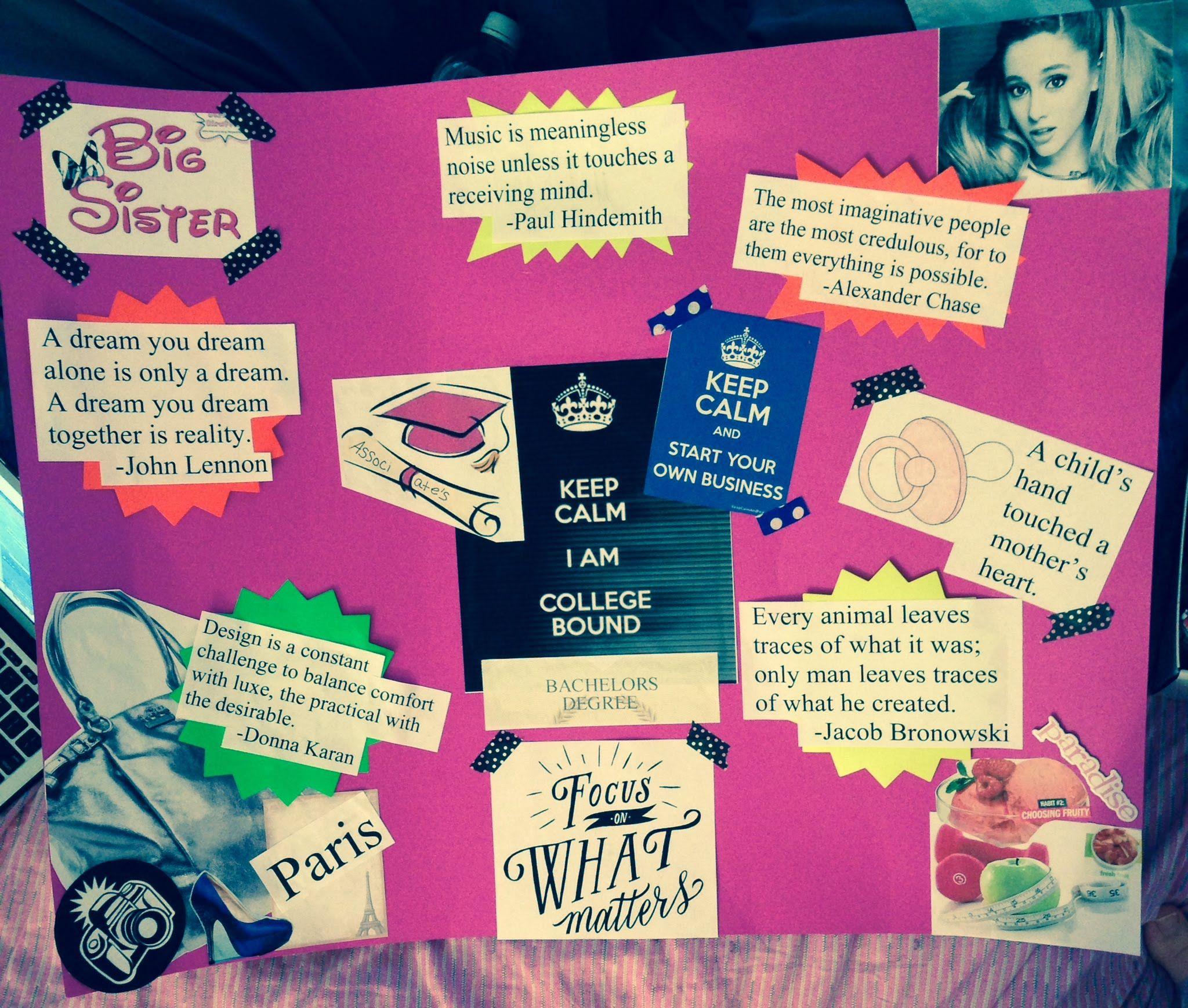 Image Result For Student Vision Board With Images