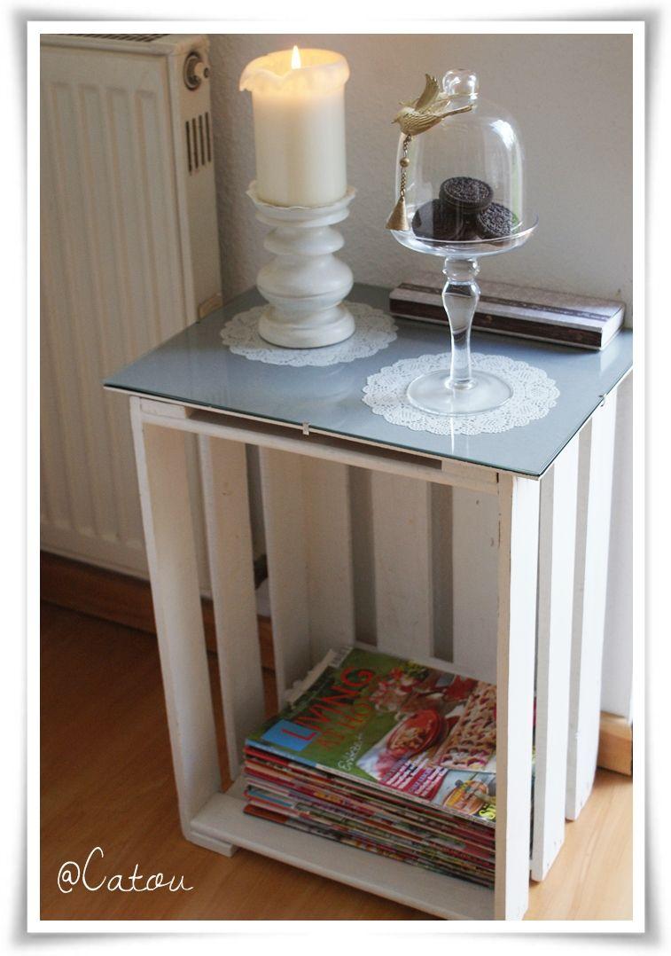 wohin mit all den zeitschriften diy beistelltisch basteln pinterest tisch m bel und. Black Bedroom Furniture Sets. Home Design Ideas