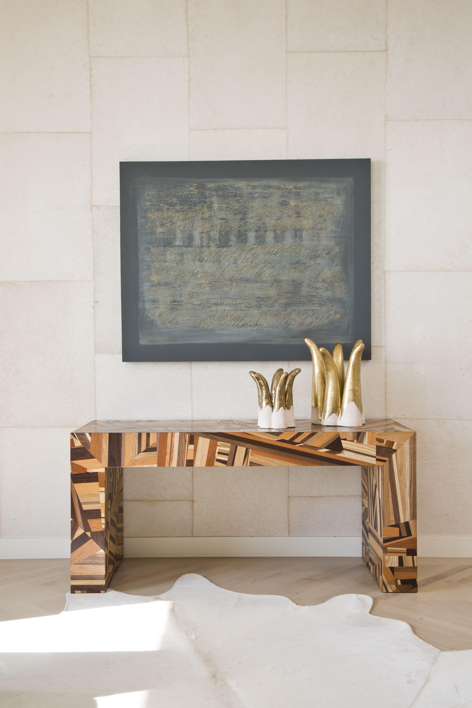 Luxury hallway furniture  Mulholland console kellywearstler furniture home decor wood