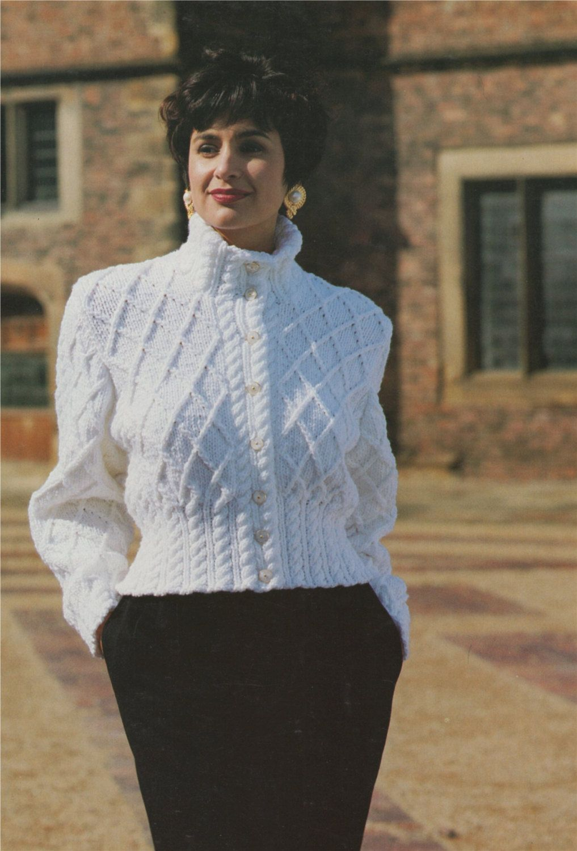 Womens Jacket Pdf Knitting Pattern Ladies 30 32 34 36 And 38