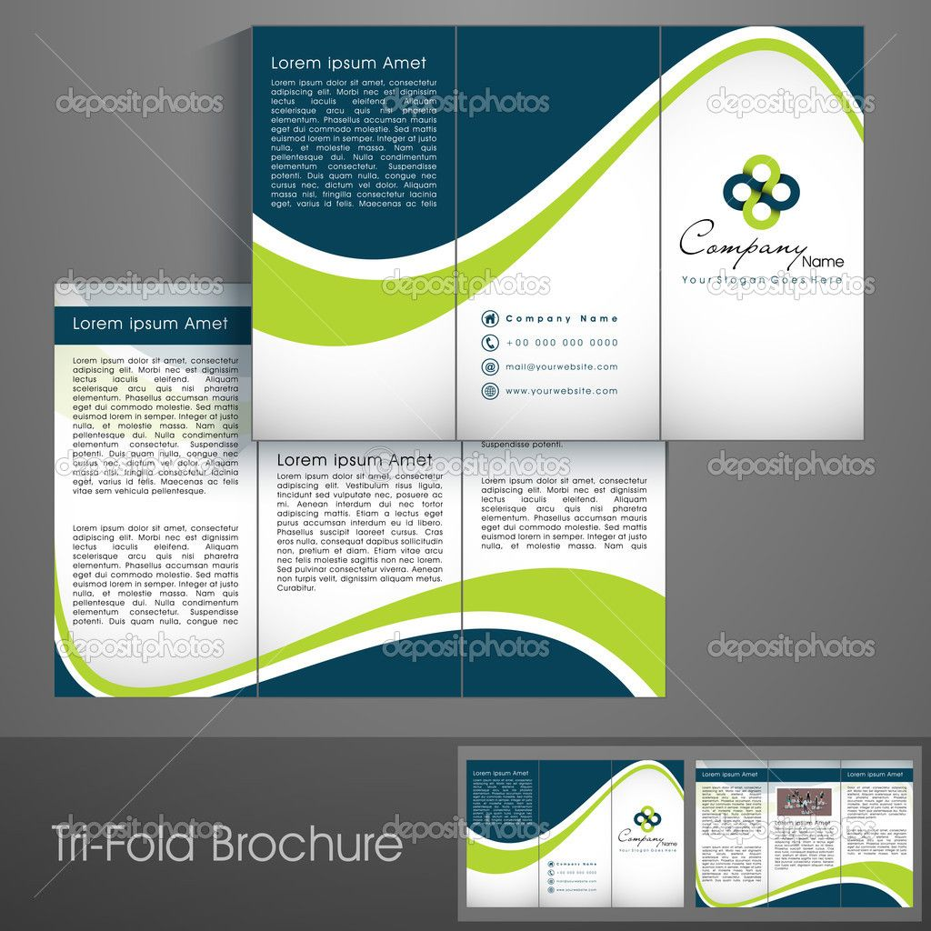 Professional Business Three Fold Flyer Template, Corporate Brochure Or  Cover Design, Can Be Use For Publishing, Print And Presentation   Buy This  Stock ...  Flyer Samples Templates