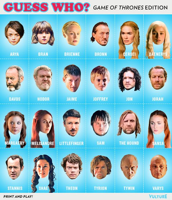 Play Vulture's Game of Thrones 'Guess Who?' -- Vulture
