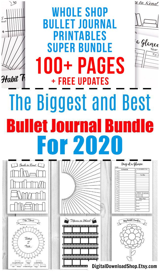 2020 Bullet Journal Printables Bundle