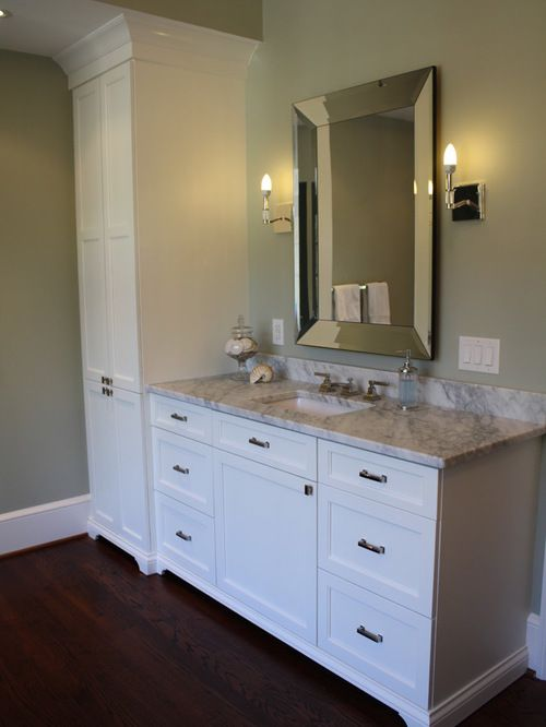 Awesome Bathroom Vanity With Linen Cabinet Closet Ideas Pictures Remodel And Decor
