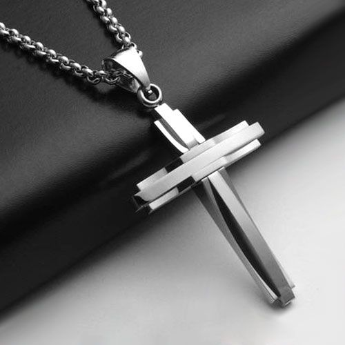 Silver Angel Wings Cross Cremation Necklaces Funeral Memorial