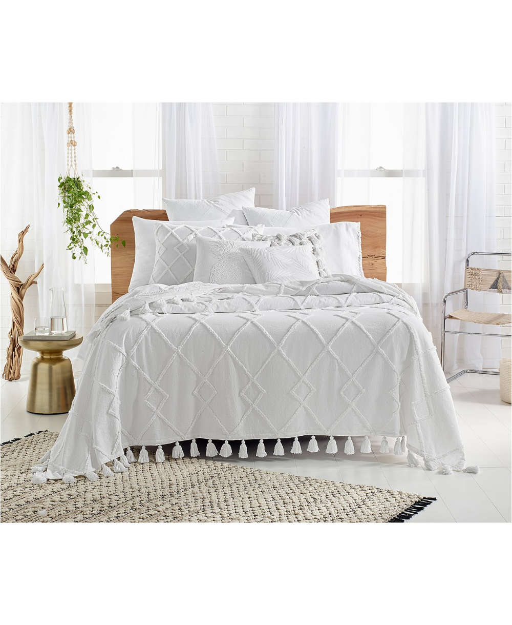 Diamond Tuft Queen Bed Cover, Created for Macy's Tufted