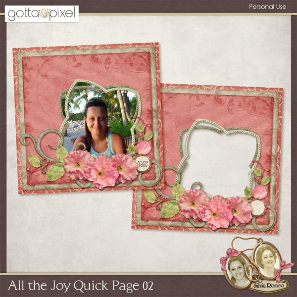 All the Joy Quick Page 02 by Silvia Romeo Designs. #Easter #scrapbook #silviaromeodesigns