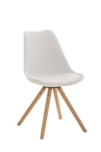 Drehstuhl esszimmer holzfuss  CLP Design Retro Stuhl PEGLEG mit Holzgestell natura, Materialmix ...