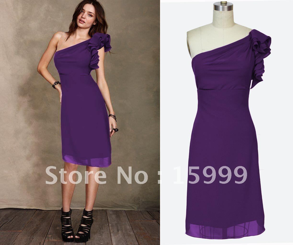 One shoulder purple bridesmaid dress google search wedding ideas