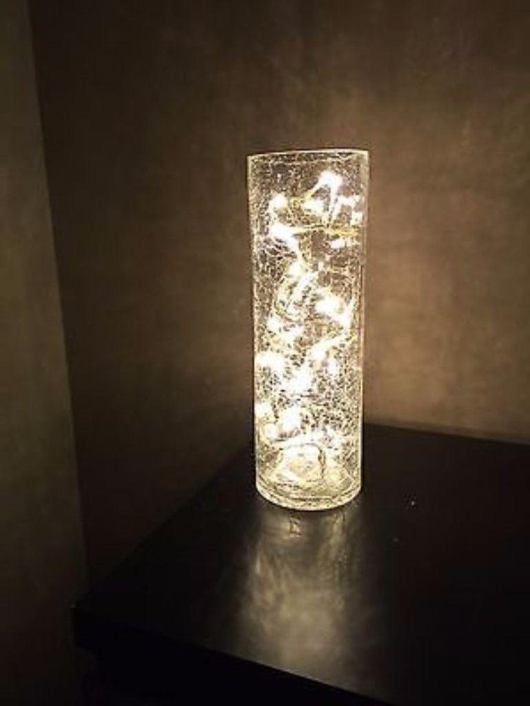 Crackle glass vase with led lights vase pinterest crackle crackle glass vase with led lights floridaeventfo Gallery