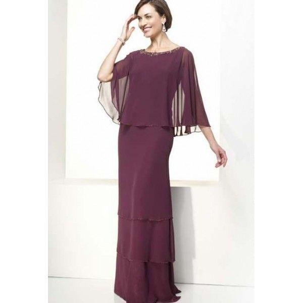 vestidos para la madre de la novia de morado oscuro | vestidos de