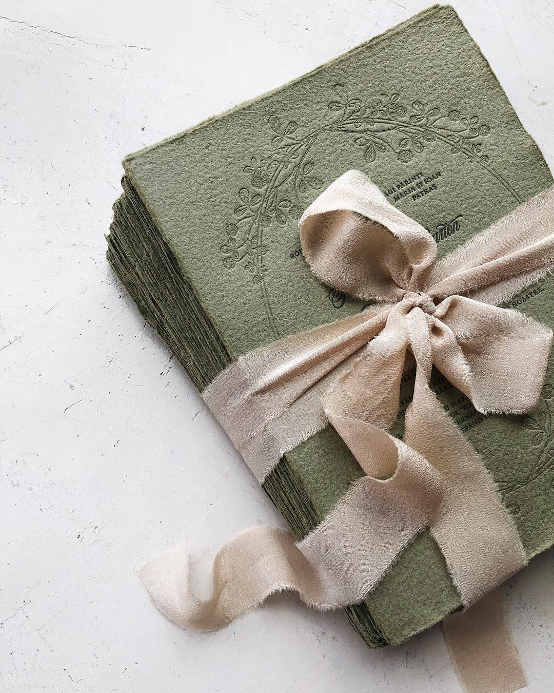 Matchy Matchy Letterpress Invite And Handmade Envelope: Greenery Letterpress Handmade Paper Wedding Invitations