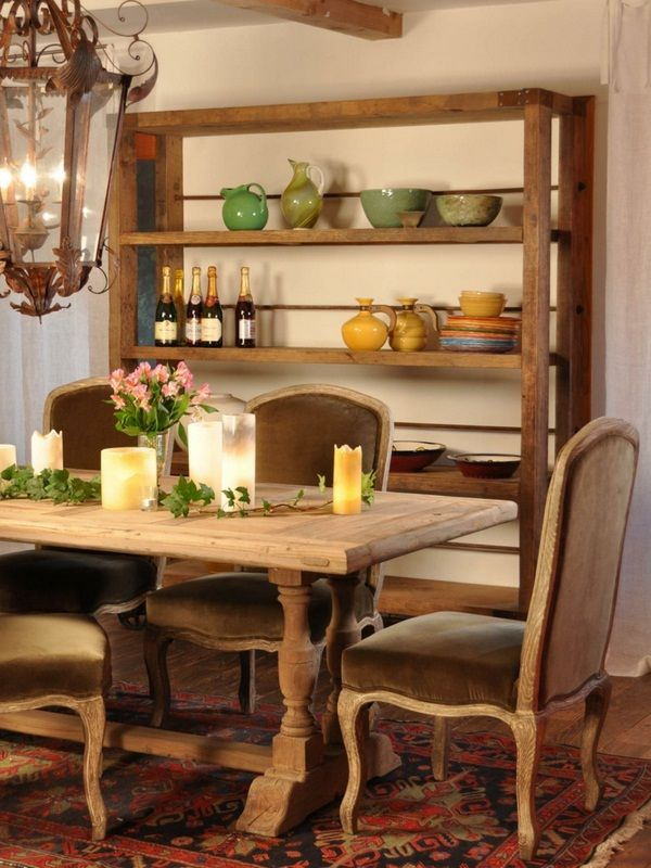 Room Country Style French Rustic Regal Dining