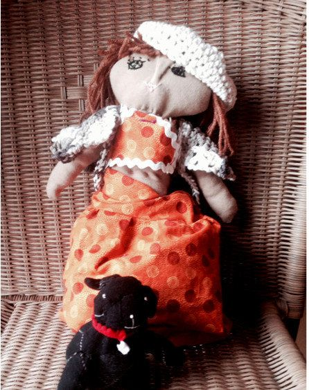 Topsy Turvy Doll, One old, one Young with Cat and Dog ..inside every old person is a young person wondering what the heck happened...