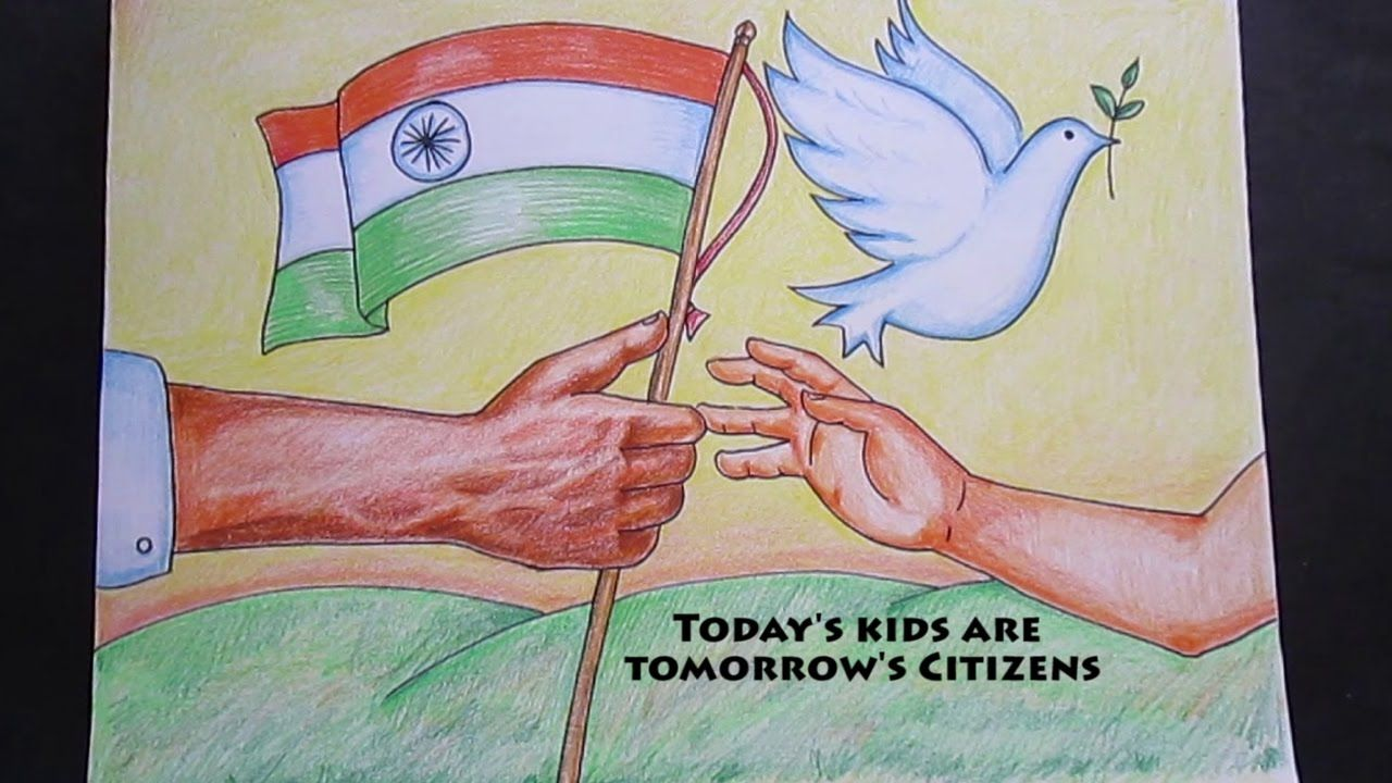 Creative Drawing Happy Republic Day With Images