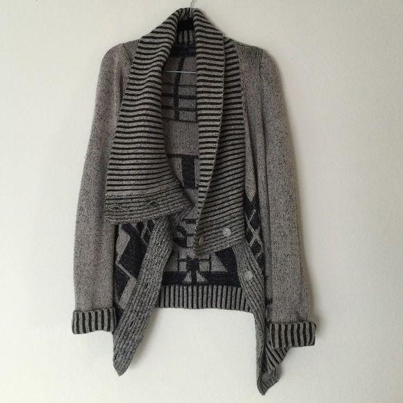 Armani Exchange gray tribal sweater size S 49% cotton 25% wool 24% nylon 2% spandex Armani Exchange Sweaters Cardigans