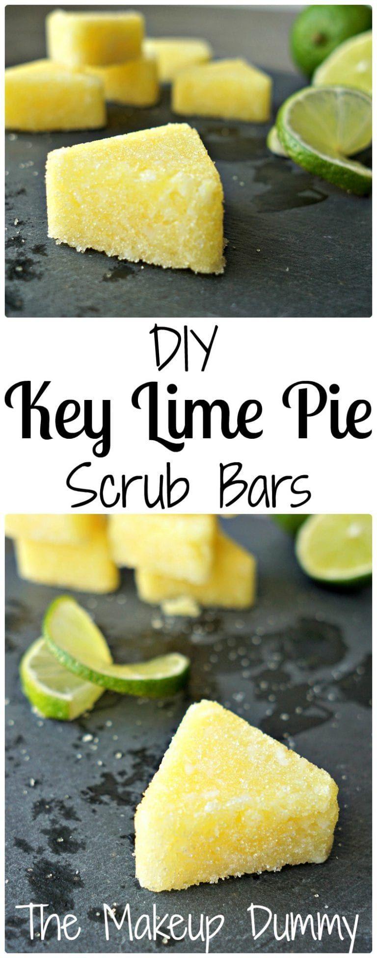 DIY Key Lime Pie Scrub Bars