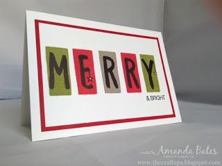 The Craft Spa - Stampin' Up! UK independent demonstrator : Christmas Layered Letters - MERRY & BRIGHT