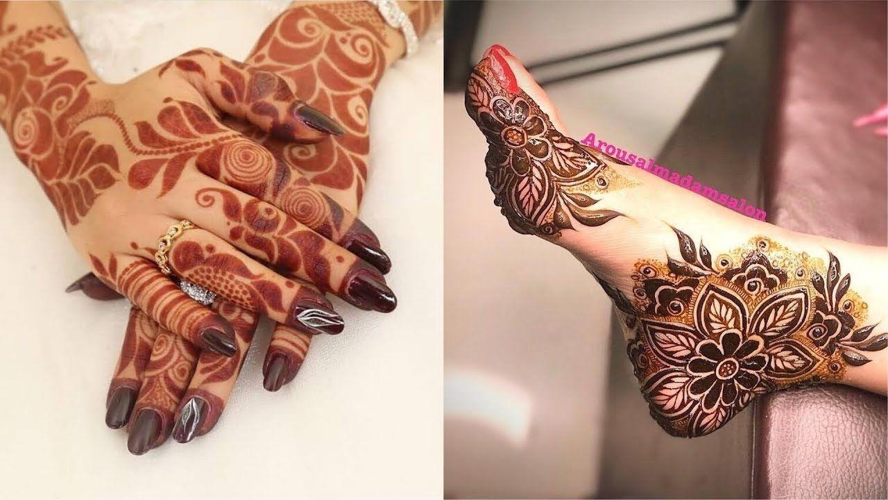 Most Beautiful Stylish 2018 New Mehndi Designs Arabic Henna