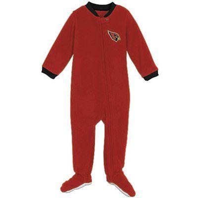 Arizona Cardinals Newborn Red Fleece Footed Sleeper  a05517e39