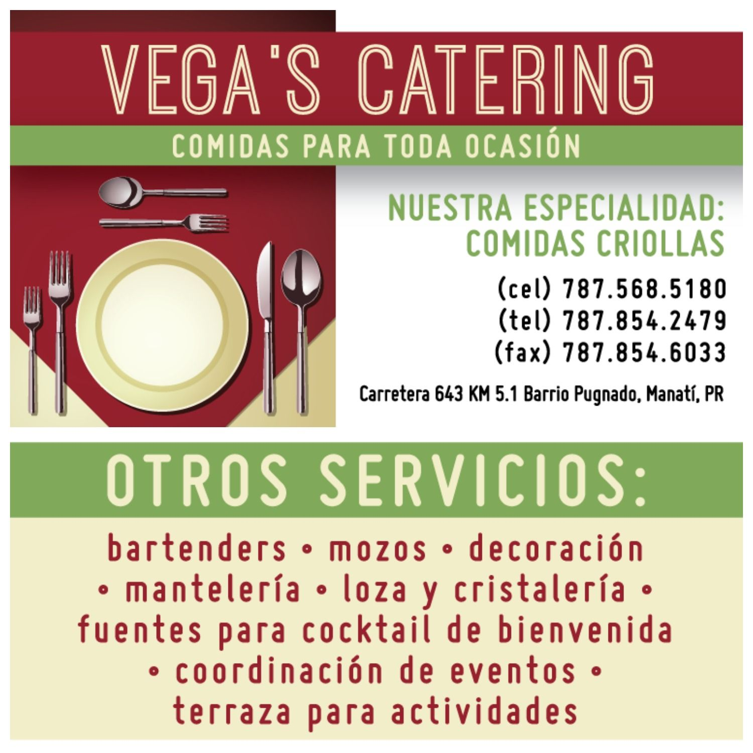 Business card design for vegas catering family owned catering business card design for vegas catering family owned catering services specialized in puerto colourmoves