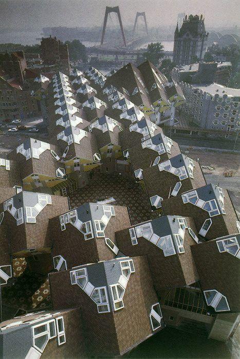 square living : architecture : Kubuswoningen / Cube House : Piet Blom…