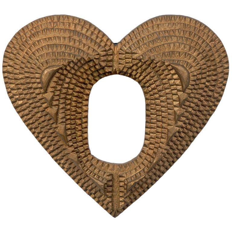 Gilded Tramp Art Heart Shaped Frame | Heart shaped frame, Heart ...