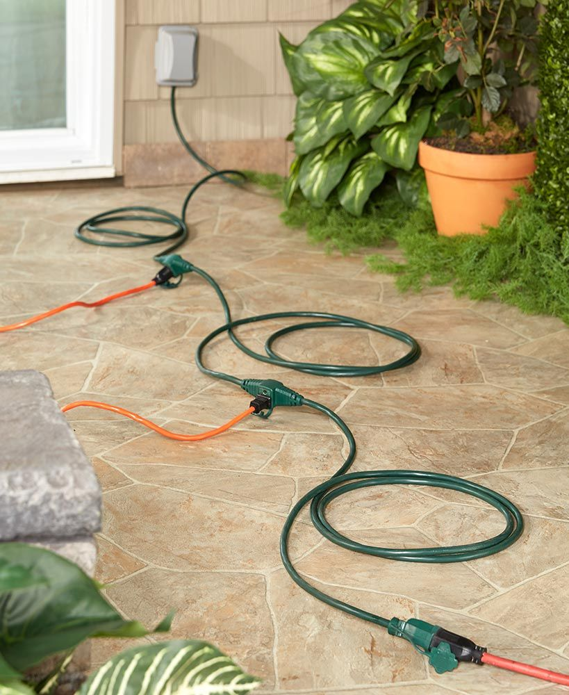 25ft triple inline extension cord extension cord