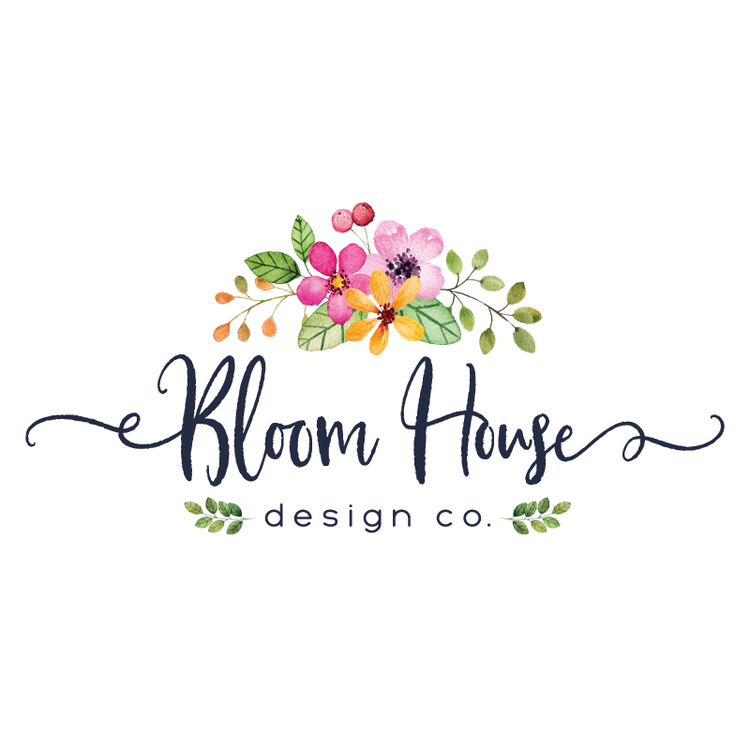 Pretty Floral Premade Logo Design Customized with Your