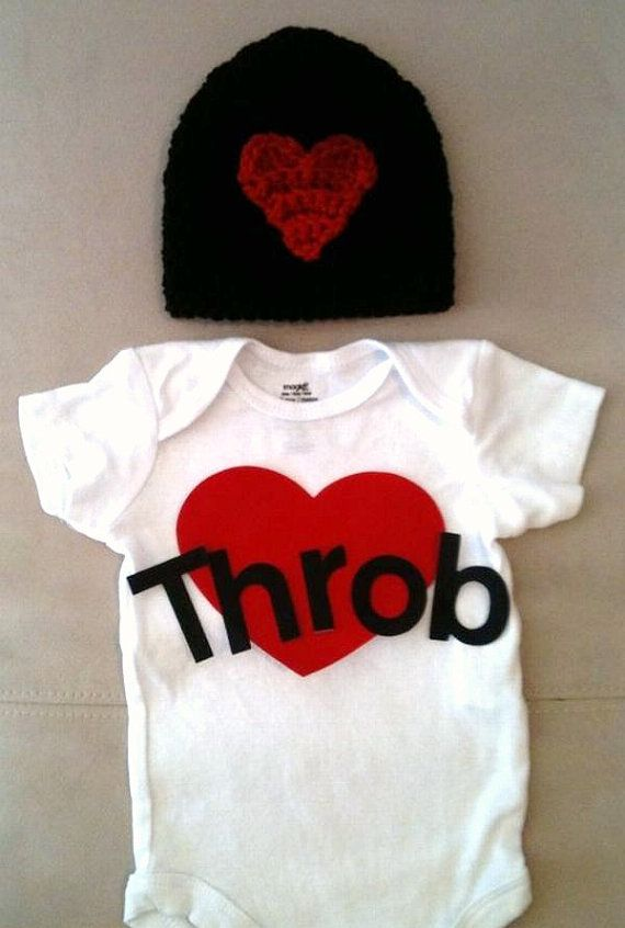 Valentine S Day Outfit For Baby Boys Heart Throb Onesie And
