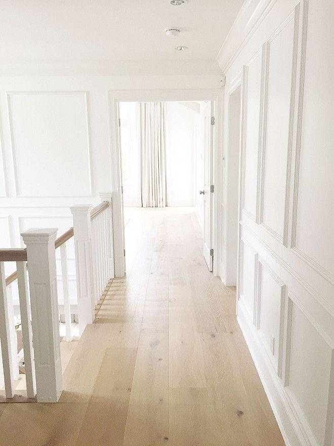 Staircase Hallway Millwork Staircase Upstairs Hallway Millwork Paneled Walls Waiscotting Walls Staircas Hardwood Floor Colors Blonde Flooring Floor Colors