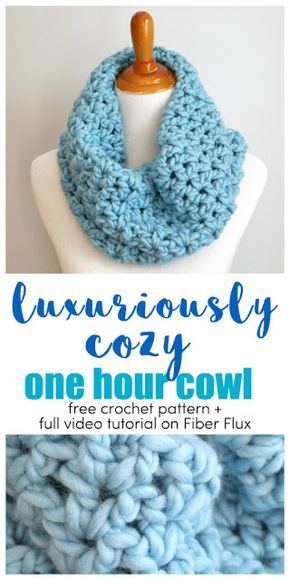 Luxuriously Cozy One Hour Cowl