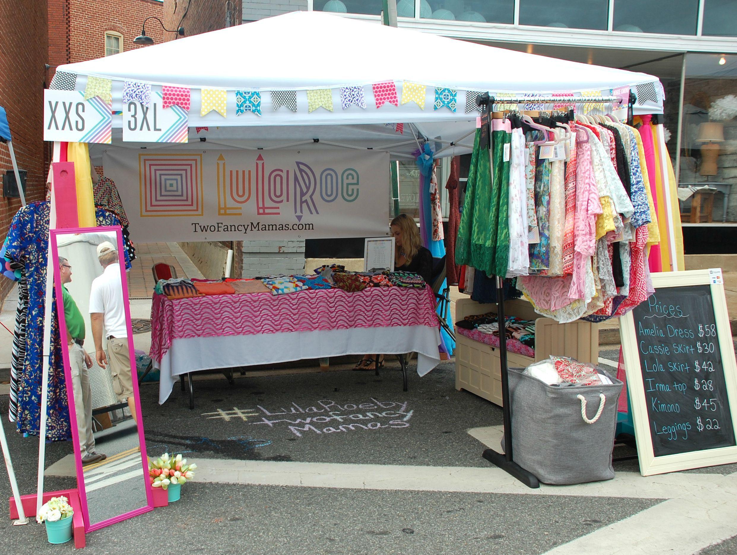 LuLaRoe by TwoFancyMamas.com Outdoor vendor setup