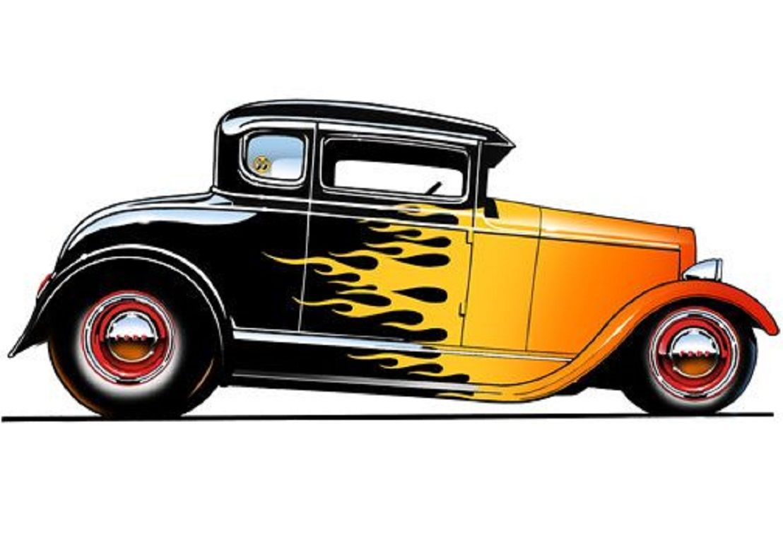 It is a picture of Witty Drawing Of Hot Rods