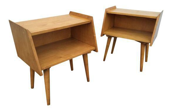 Crawford Furniture Mid-Century Maple nightstands | Nightstands, Mid ...