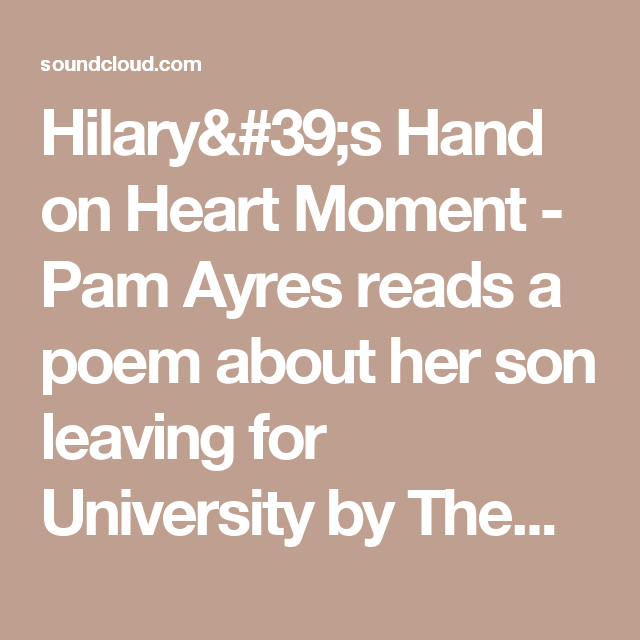 Hilary's Hand On Heart Moment