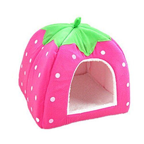 Strawberry Small Cotton Soft Dog Cat Pet Bed House Lovely Warm Dog